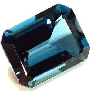 Rich royal blue, American cut London blue Topaz gemstone