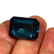 Load image into Gallery viewer, Large Emerald cut London Blue Topaz