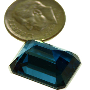 Faceted London Blue Topaz gemstone