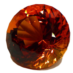 Natural, faceted Madeira Citrine gemstone