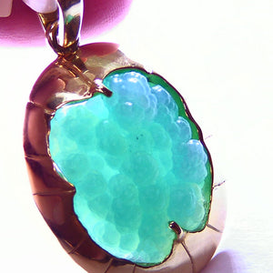 Fine Arizona gem silica 14k gold pendant