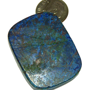 Royal blue Azurite cabochon ready to set in jewelry