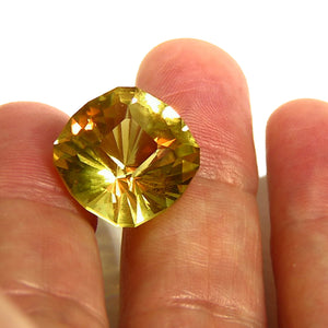 Faceted all natural yellow beryl