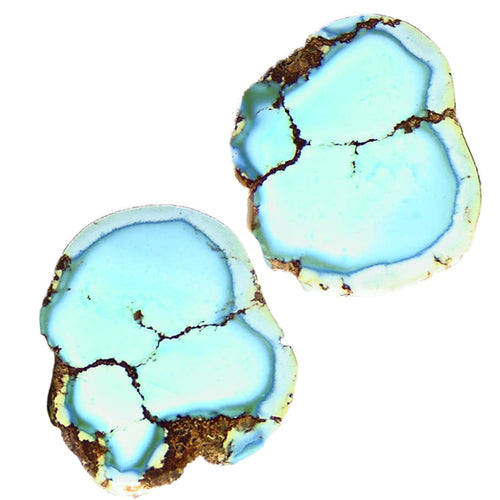 Unique, all natural, Kazakhstan Turquoise nugget halves