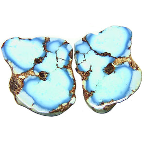 All natural Kazakhstan Turquoise nugget slices