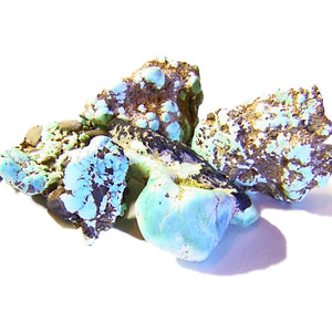 Beautiful sky blue Lone Mountain Turquoise rough parcel