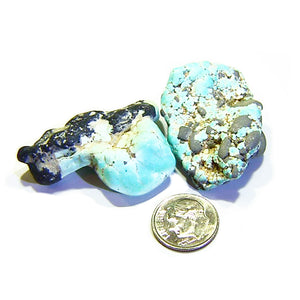 Rough turquoise parcel from Lone Mountain Mine Nevada