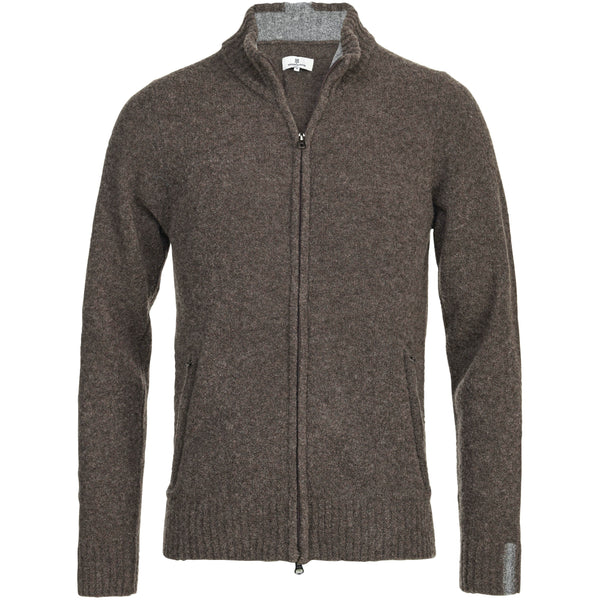 Hansen & Jacob - Tröja - Mousse Full Zip Cardigan (67 Brown) - Thernlunds