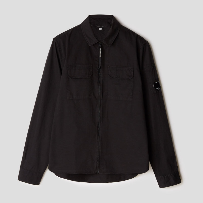C.P. Company - Skjorta - Long Sleeve Shirt (999 Black) - Thernlunds