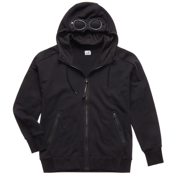 C.P. Company - Tröja - CMSS009A Hooded Open Sweatshirt (999 Black) - Thernlunds