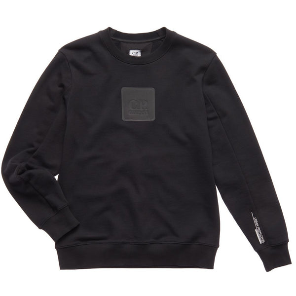 C.P. Company - Tröja - CMSS171A Crew Neck Sweatshirt (999 Black) - Thernlunds