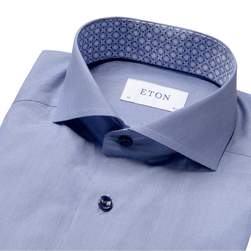 Eton - Skjorta - Slim Fit Poplin Shirt (27 Blue) - Thernlunds