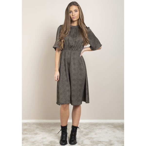 Dry Lake - Klänning - Sigrid Dress (Black Mini Dot Print) - Thernlunds
