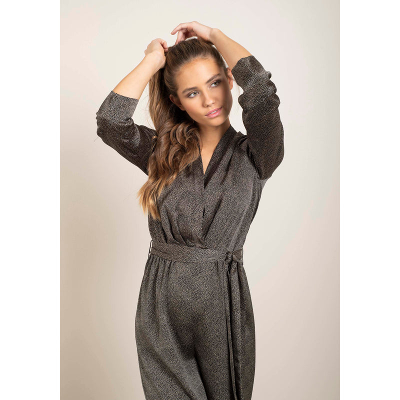 Dry Lake - Jumpsuit - Juno Jumpsuit (Black Mini Dot Print) - Thernlunds