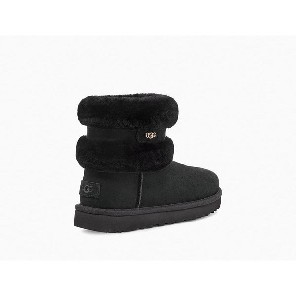 Ugg - Skor - W Fluff Mini Belted Boot (Black) - Thernlunds