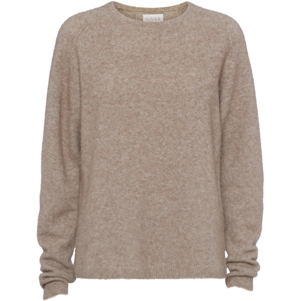 Norr - Tröja - Salt knit (Light brown melange) - Thernlunds