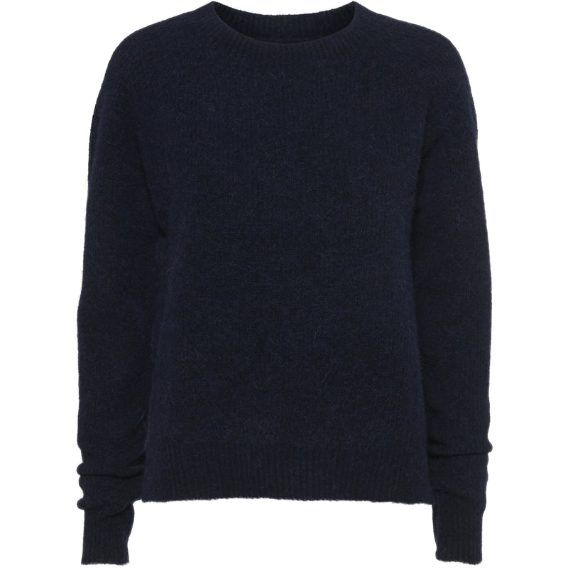 Norr - Tröja - Nordby o neck (dark navy) - Thernlunds