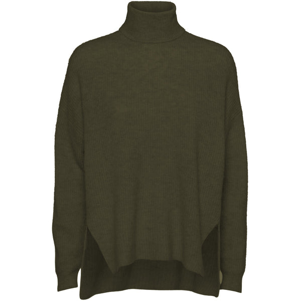Norr - Tröja - Nordby roll neck (ARMY) - Thernlunds