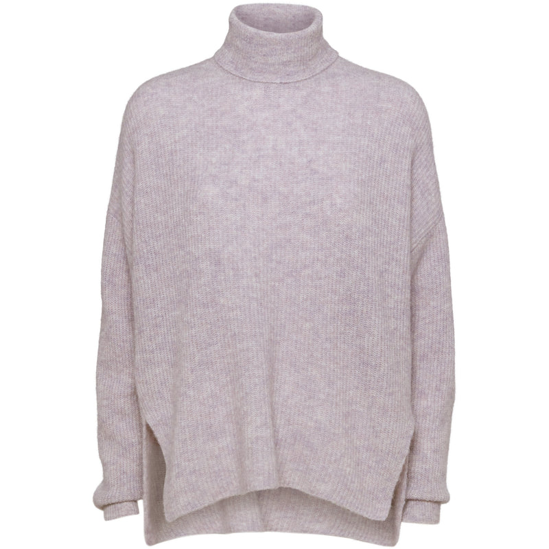 Norr - Tröja - Nordby roll neck (Light Pink) - Thernlunds