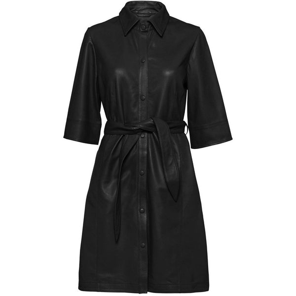Norr - Klänning - Niko leather dress (Black) - Thernlunds