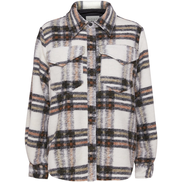 Norr - Skjorta - Krista shirt (Beige check) - Thernlunds