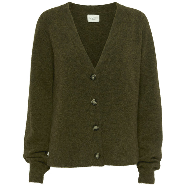 Norr - Tröja - Nordby knit cardigan (ARMY) - Thernlunds