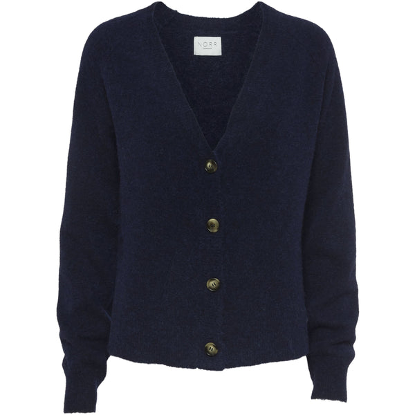 Norr - Tröja - Nordby knit cardigan (dark navy) - Thernlunds