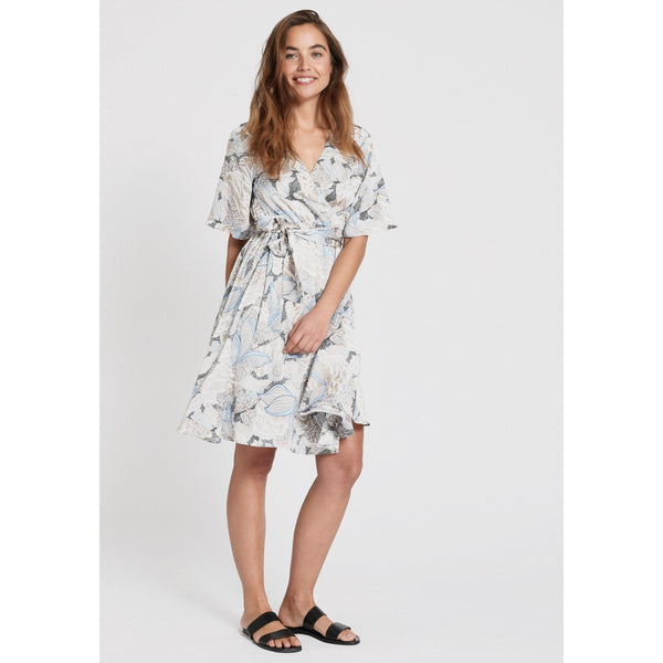 Dry Lake - Klänning - NAOMI DRESS (851 BLUE SKETCH PRINT) - Thernlunds