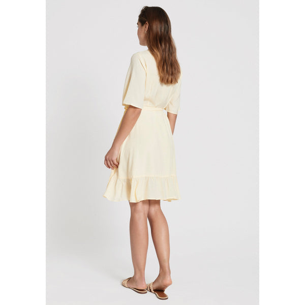 Dry Lake - Klänning - Nanny Dress (720 Yellow Jaquard) - Thernlunds