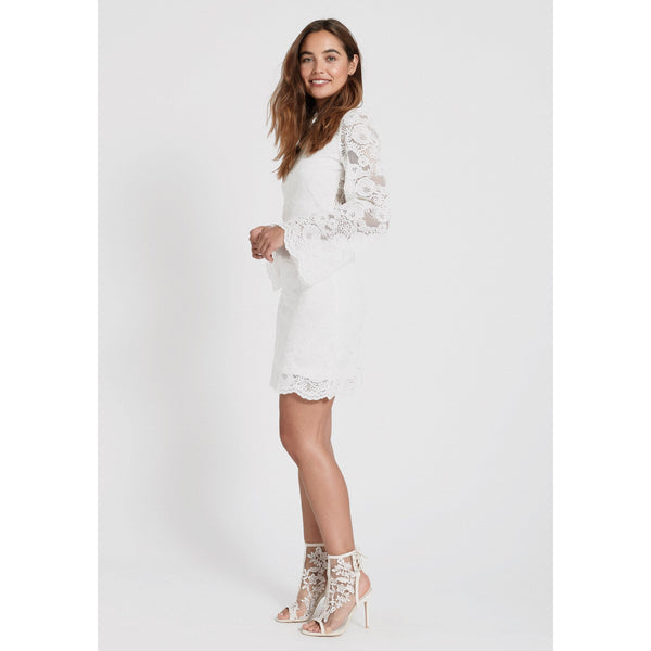 Dry Lake - Klänning - Nell Dress (115 White Lace) - Thernlunds