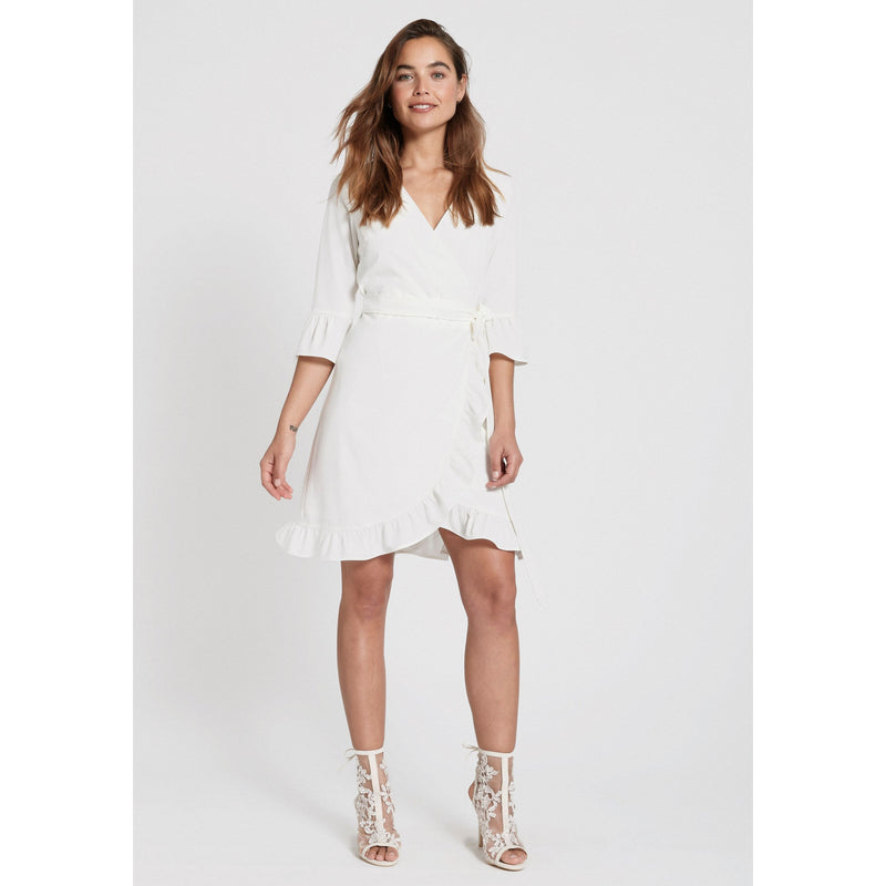 Dry Lake - Klänning - Muffin Dress (100 White) - Thernlunds