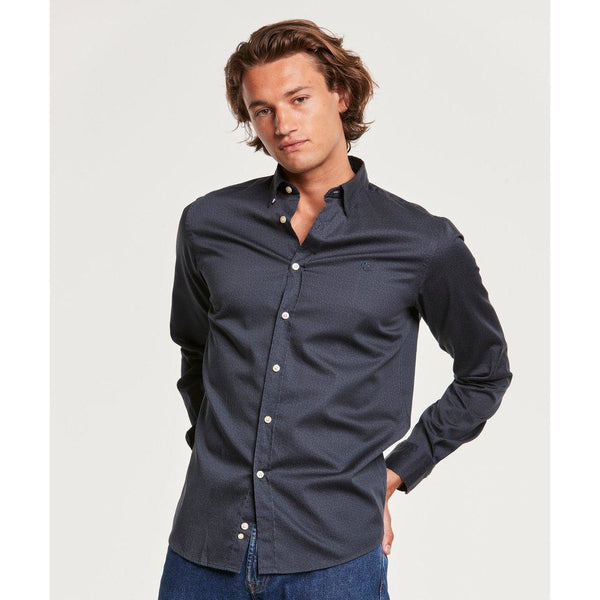 Morris - Skjorta - Dalton Button Under Shirt (62 Blue) - Thernlunds