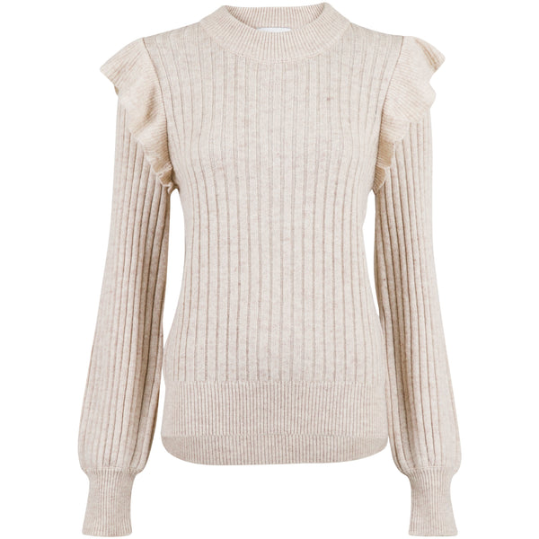 Neo Noir - Blus - Wanda Knit Blouse (119 Sand Melange) - Thernlunds