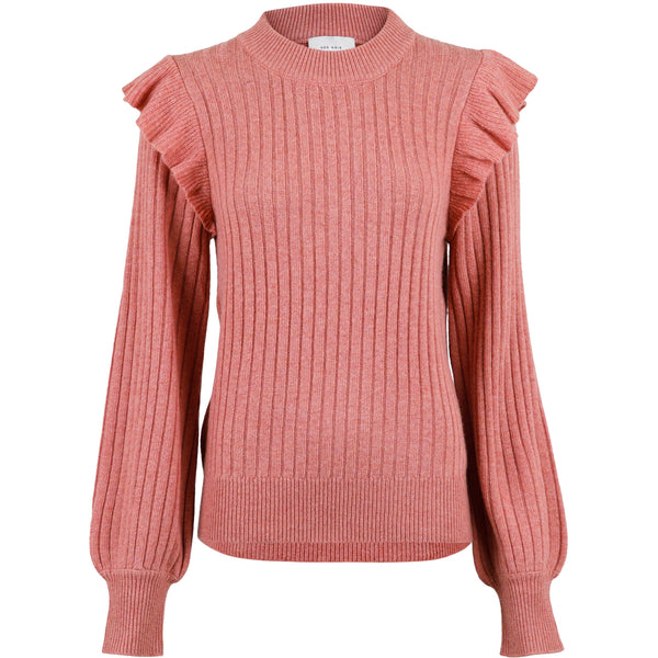 Neo Noir - Blus - Wanda Knit Blouse (726 Rose melange) - Thernlunds