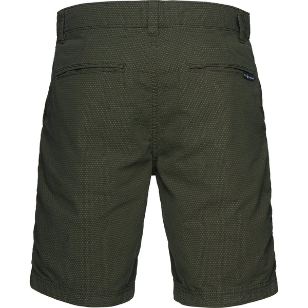 Grinder Dot Chino Shorts (777D Military Green Dots)