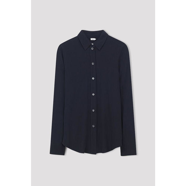 Filippa K - Skjorta - Classic Silk Shirt (2830 Navy) - Thernlunds