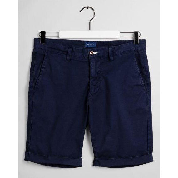 Gant - Shorts - Regular Sunfaded Shorts (410 Marine) - Thernlunds