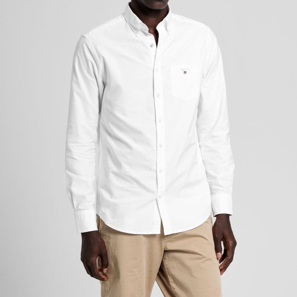 Gant - Skjorta - The Oxford Shirt Reg Bd (110 White) - Thernlunds