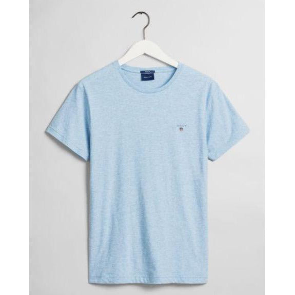 Gant - T-shirt - The Original SS T-Shirt (497 Lt Blue Melange) - Thernlunds