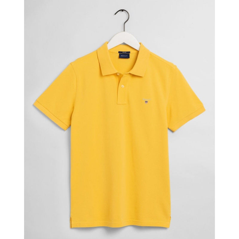Gant - Pikétröja - The Original Pique SS Rugger (706 Mimosa Yellow) - Thernlunds