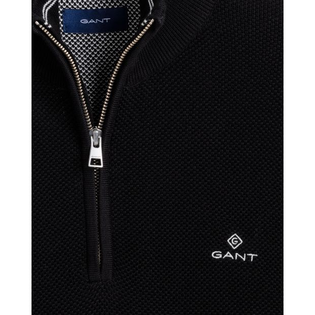 Cotton Pique Half Zip - Thernlunds