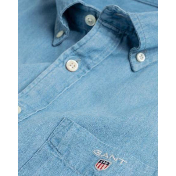 Gant - Skjorta - The Indigo Reg Bd (980 Semi Light Blue) - Thernlunds