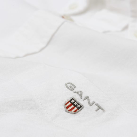 Gant - Skjorta - 3046000 The Oxford Shirt Reg Bd (110 White) - Thernlunds