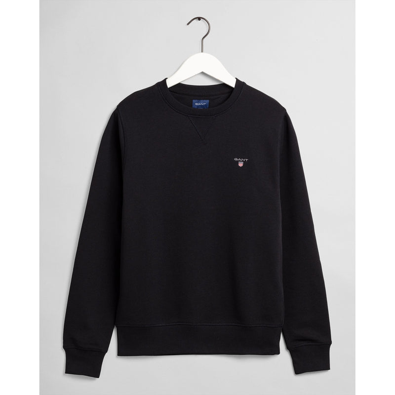 Gant - Tröja - The Original C-Neck Sweat (5 Black) - Thernlunds