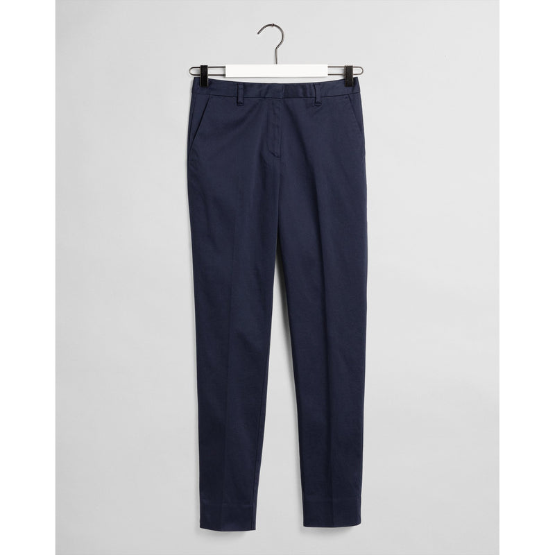 Gant - Byxa - Tp Satin Slack (433 Evening Blue) - Thernlunds