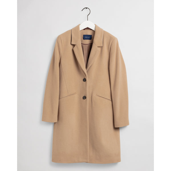 Gant - Rock - Classic Tailored Coat (248 Dark Khaki) - Thernlunds