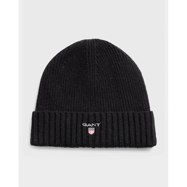 Gant - Huvudbonad - Wool Lined Beanie (5 Black) - Thernlunds