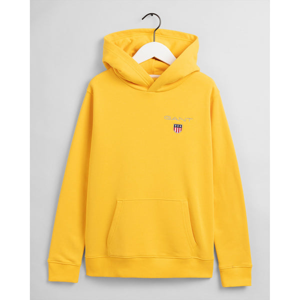 Gant - Tröja - 906790 D1. Medium Shield Sweat Hoodie (728 Solar Power Yellow) - Thernlunds