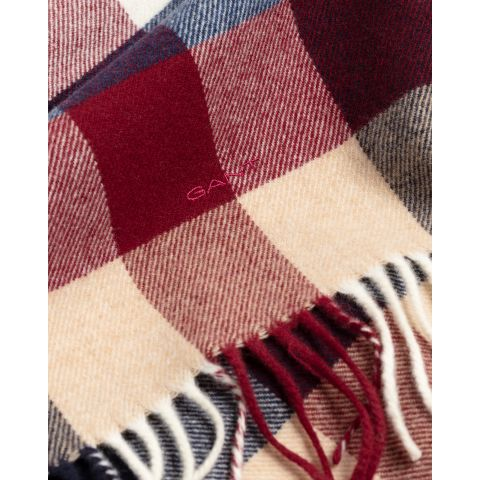Multi Check Wool Scarf - Thernlunds