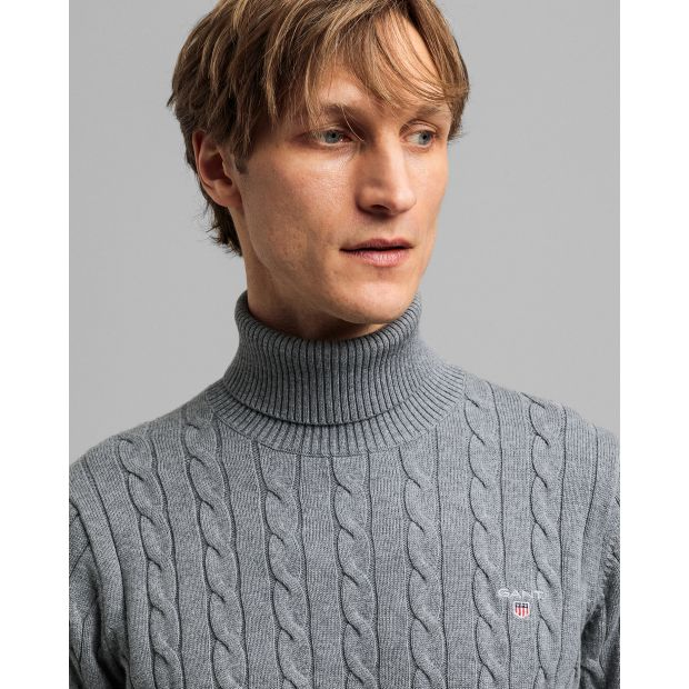 Gant - Tröja - Cotton Cable Turtle Neck - Thernlunds
